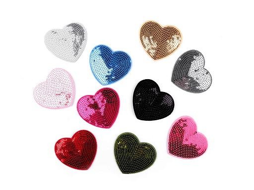 Aufbügler Herz mit Pailletten