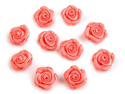 Saténová růžička Ø10 mm