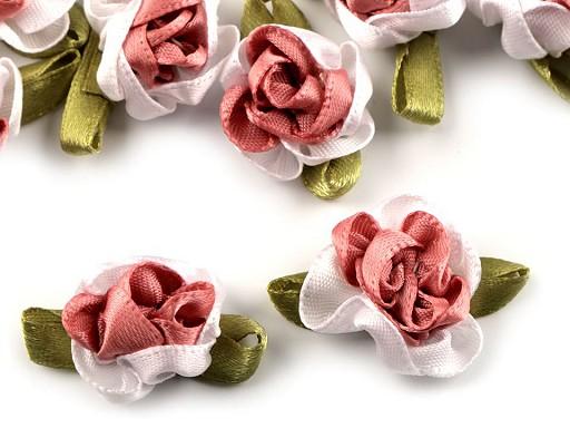 Saténový květ 22x35 mm