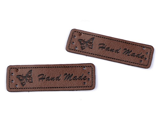 Eco Leather Clothing Label Hand Made 15x50 mm