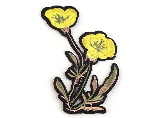 Nažehlovačka na rifle květy