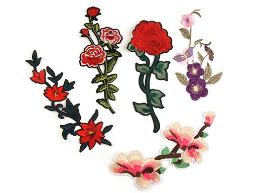 Velká nažehlovačka na rifle květy / růže