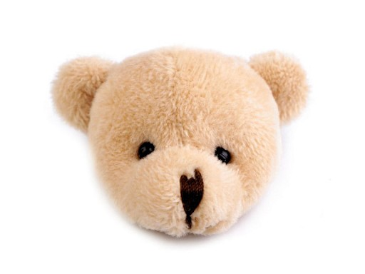 Textilní aplikace / nášivka medvídek Ø4,5 cm