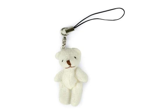 Textilní přívěsek medvídek