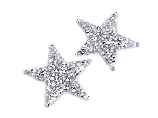 Naprasowanka gwiazda mała z kamyczkami