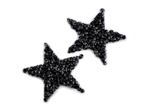 Nažehlovací hvězda s kamínky malá