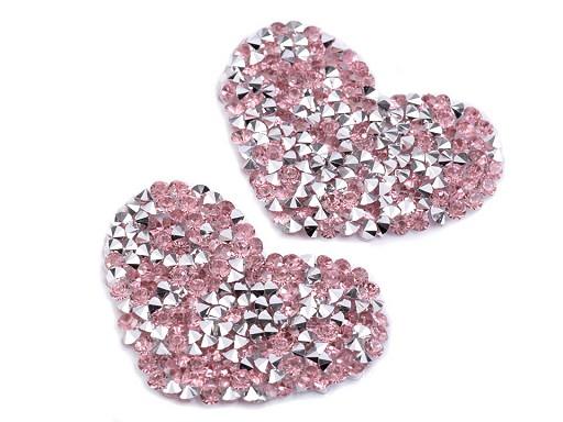 Nažehlovací srdce s kamínky