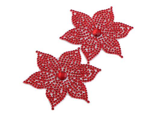 Nažehlovací kvet s kamienkami Ø62 mm
