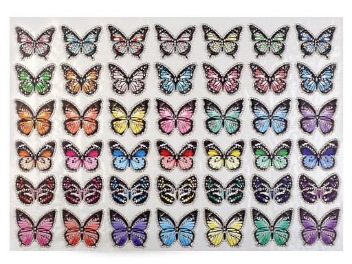 Nažehlovačka motýl s kamínky