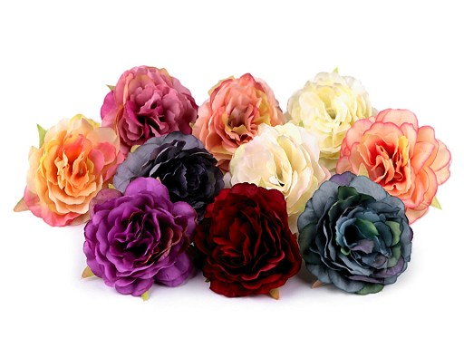 Umělý květ růže Ø65 mm