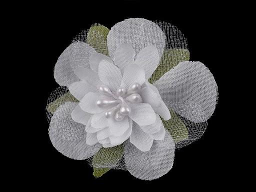 Textilný kvet s piestikmi Ø55 mm