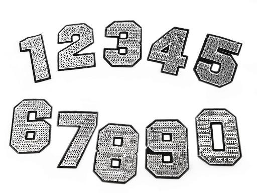 Nažehlovačka čísla s flitrami