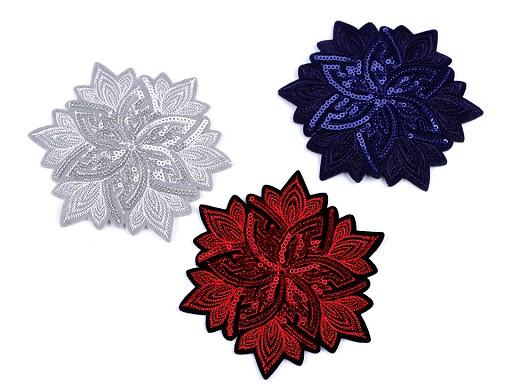 Nažehlovačka květ s flitry