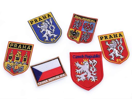 Nažehlovačka znak ČR a Praha