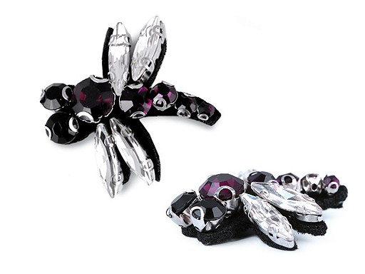 Adornment with Rhinestones Butterfly, Dragonfly, Bee
