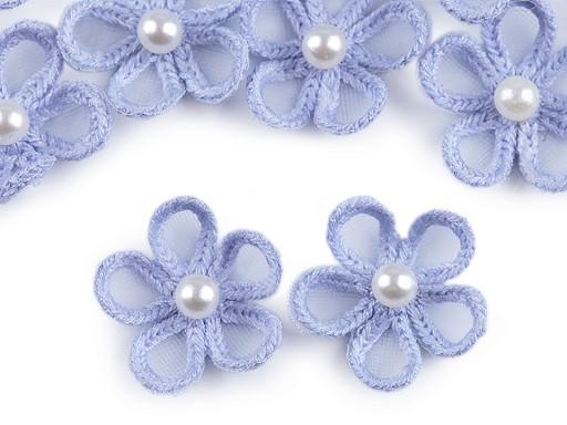 Monofilový květ s perlou Ø25 mm