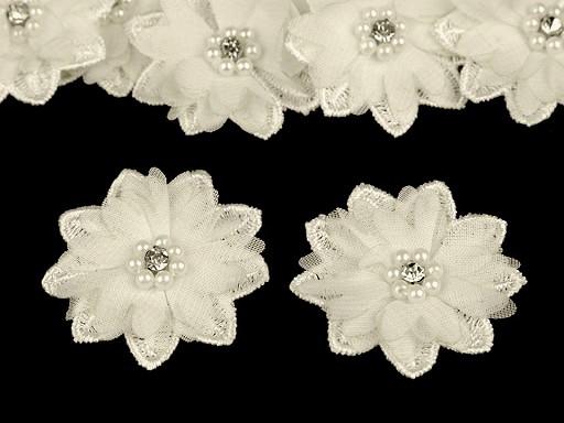 Květ s korálky Ø50 mm