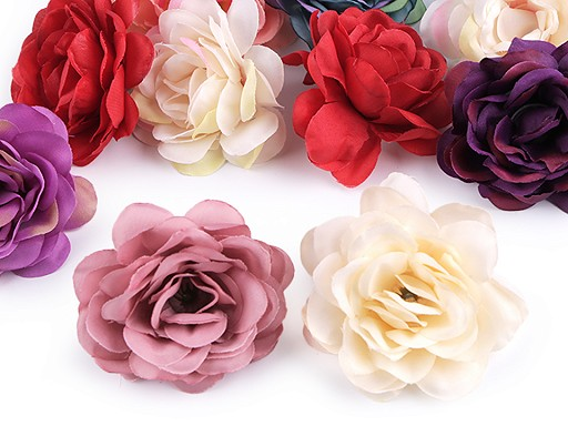 Umělý květ růže Ø50-60 mm
