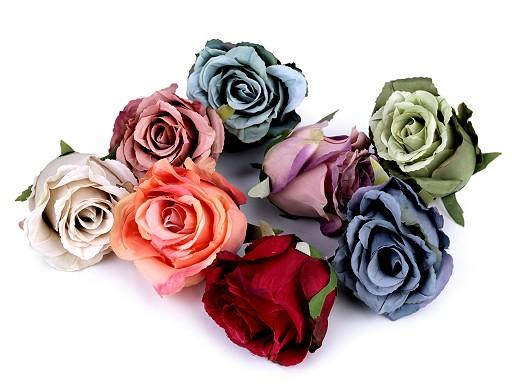 Umělý květ růže Ø70 mm
