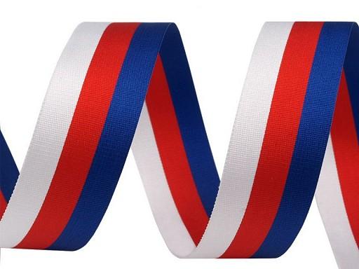 Panglică tricoloră Cehia, Slovacia, lățime 20 mm