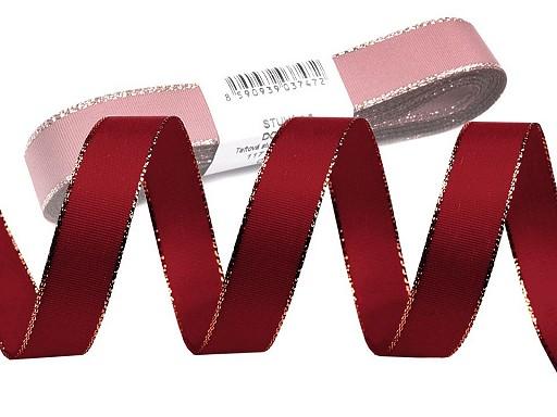 Taffeta Ribbon width 15 mm with lurex