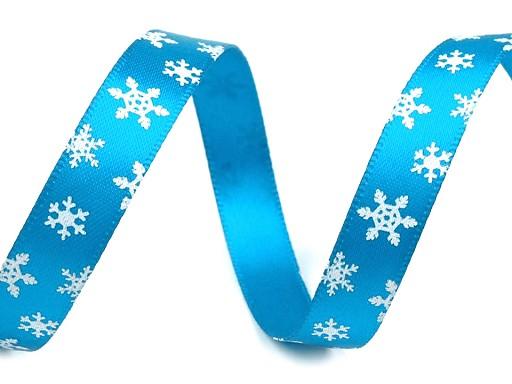 Karácsonyi szalag szélessége 10 mm hópehely