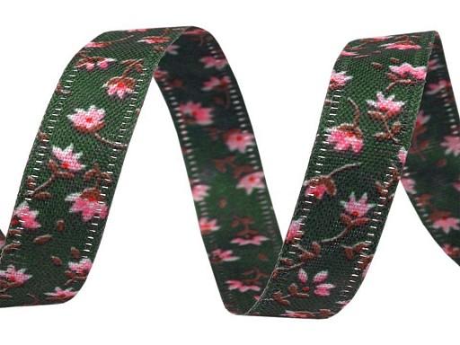 Obojstranná stuha kvety šírka 10 mm