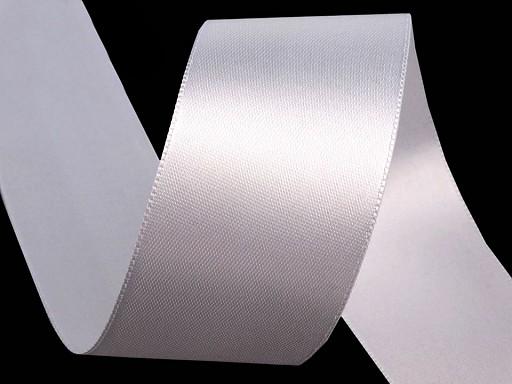 Atlasová stuha obojlíca zväzky po 5 m šírka 40 mm