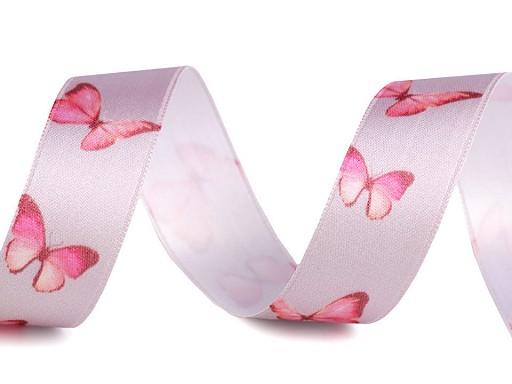 Saténová stuha motýl šíře 25 mm