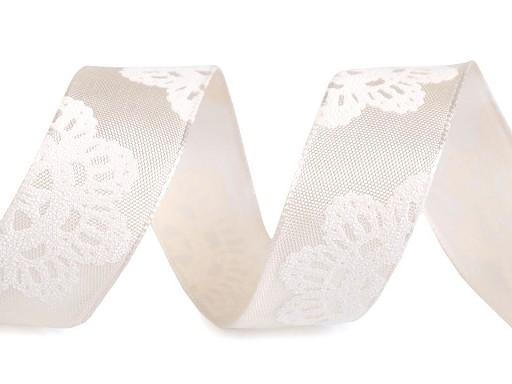 Stuha mandala s drátem šíře 25 mm