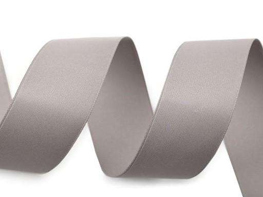 Atlasová / hedvábná stuha oboulící šíře 26 mm matná