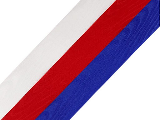 Stuha trikolora Česko šíře 10 cm