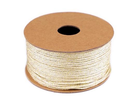 Stuha lurexová šíře 3 mm svatební