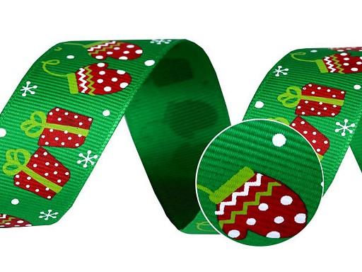 Vianočná rypsová stuha šírka 25 mm