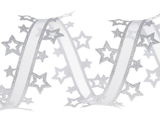 Vysekávaná stuha hvězdy s lurexem šíře 40 mm