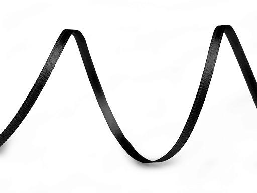 Atlasová stuha oboulící šíře 3 mm