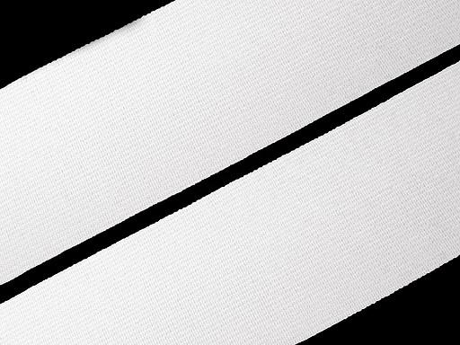 Lapos gumiszalag 20 mm-es fehér szövött