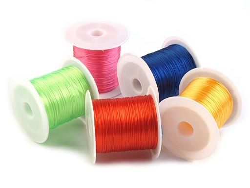 Nylonfaden elastisch flach bunt 1 mm