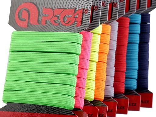 Guma na bielizeň na kartičke šírka 7 mm farebná