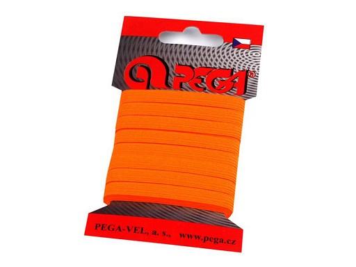 Prádlová pruženka na kartě šíře 7 mm barevná