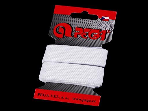 Hladká pruženka na kartě šíře 20 mm barevná