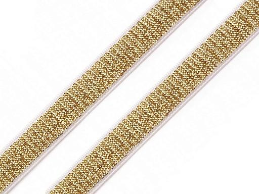 Pruženka brokátová / ramínková šíře 10 mm s lurexem