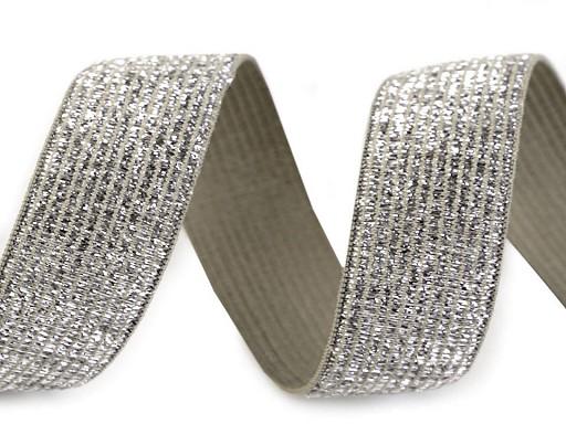 Pruženka šíře 20 mm s lurexem