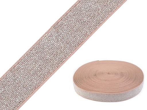 Pruženka s lurexem šíře 30 mm