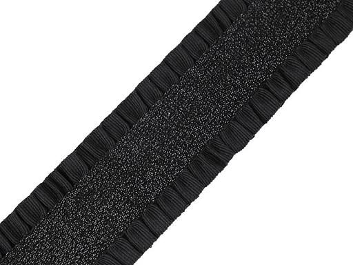 Guma z plisowanymi brzegami i lureksem szerokość 50 mm