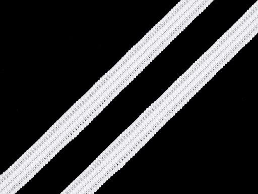 Pletená plochá gumička šírka 7 mm
