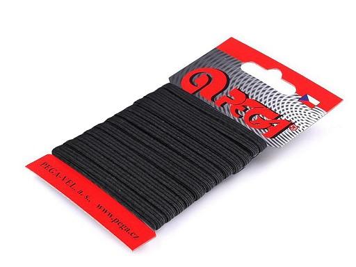 Prádlová gumička na karte šírka 4 mm
