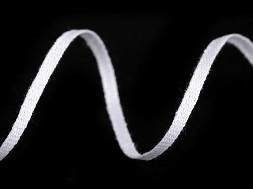 Bavlněná šňůra - pertle šíře 3 mm