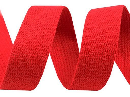 Bavlněný popruh šíře 30 mm barevný