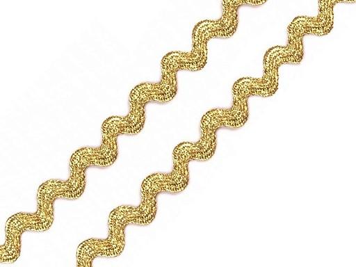 Bandă zig-zag cu lurex, lățime 4 mm